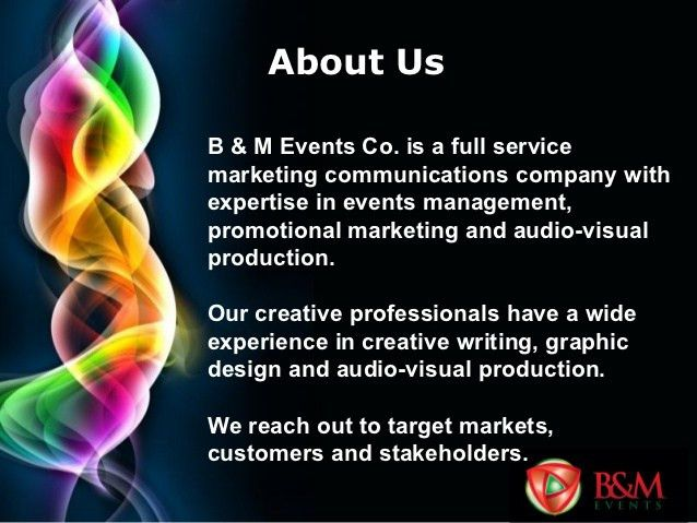 B&M Events Company Profile