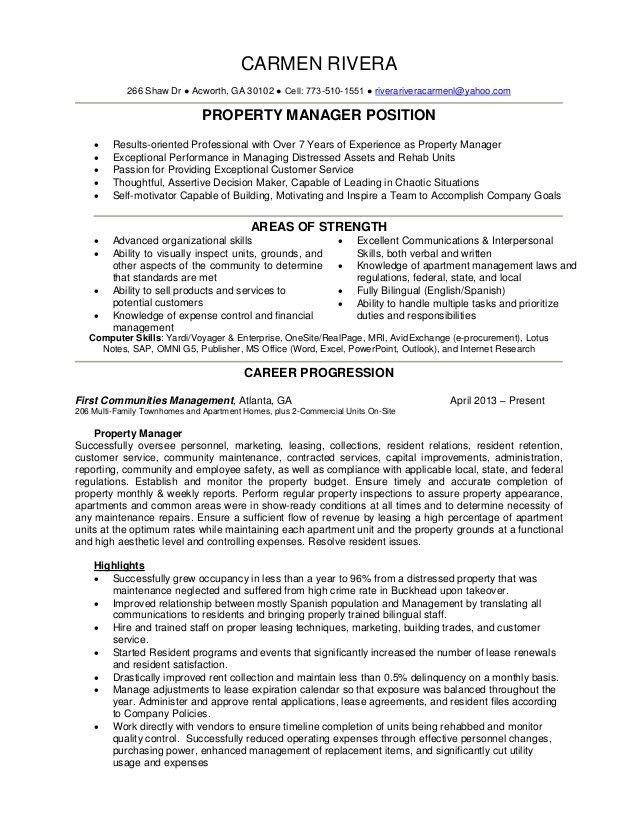 Property Manager Resume | snapchat-emoji.com