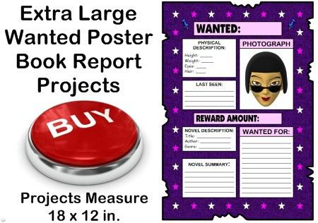 Wanted Poster Book Report Project: templates, worksheets, rubric ...