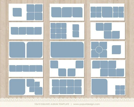 Instant Download Album Template 10x10 WHCC specs. by PopuriDesign ...