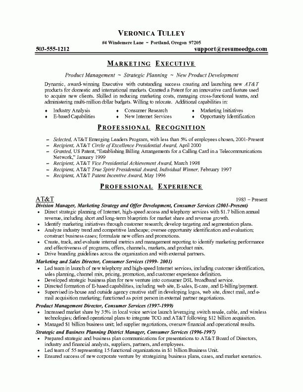 Marketing Director Resume | Marketing Executive Resume Sample | CV ...