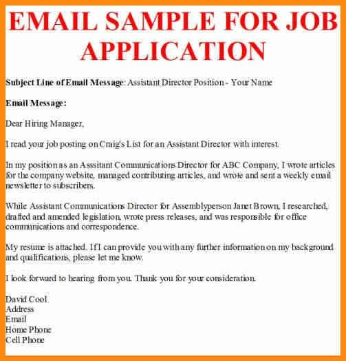 Job Application Sample. Email Job Application Sample Sample-Letter ...