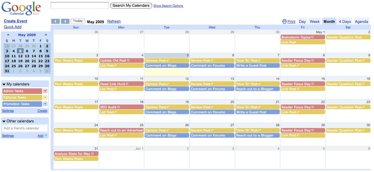 PB012: Create an Editorial Calendar for Your Blog [Day 12 of 31 ...