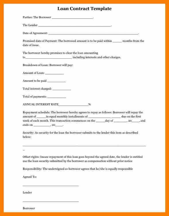 8+ printable loan agreement | hostess resume
