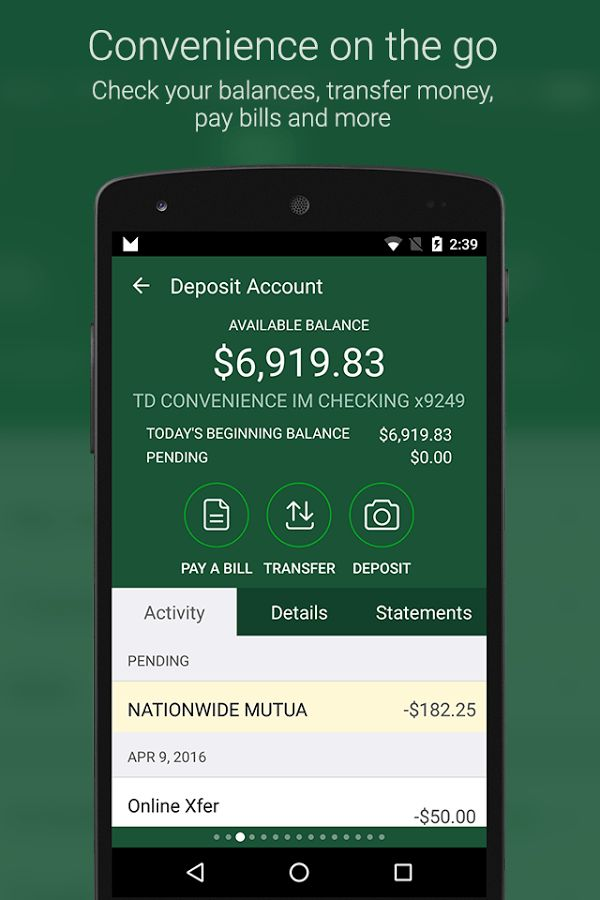 TD Bank (US) - Android Apps on Google Play