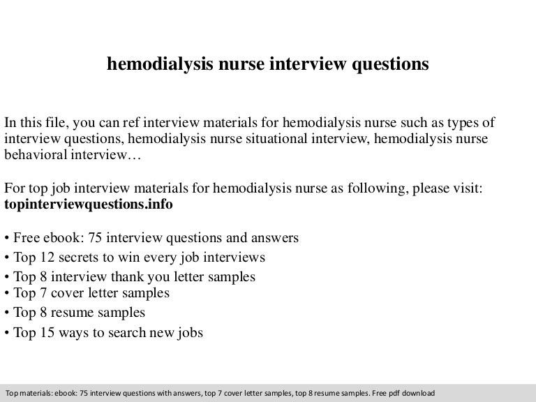 sample resume for hemodialysis nurse 1 dialysis nurse resume ...