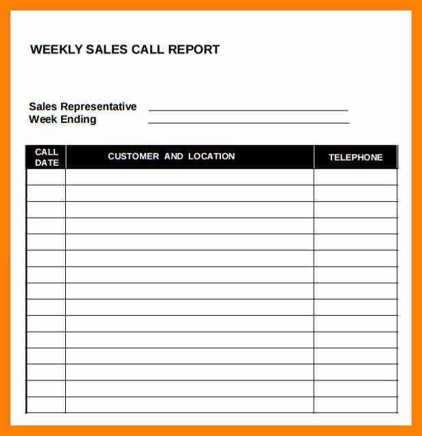 Sales Call Report Template. Free Sales Call Report Templates ...