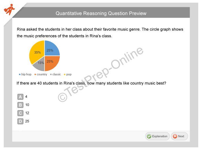 ISEE Quantitative Reasoning - Online Preparation - TestPrep-Online