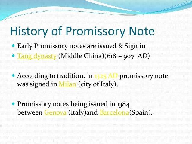Promissory Note & Bill of Exchange