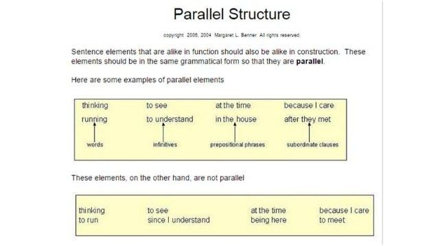Eng 10 quarter 1 parallel structure