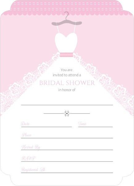 Blank Bridal Shower Invitations | badbrya.com