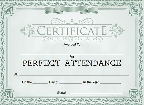 Attendance Certificate Templates - Word Excel Samples