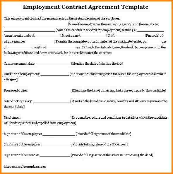 9+ employment contract sample | quote templates