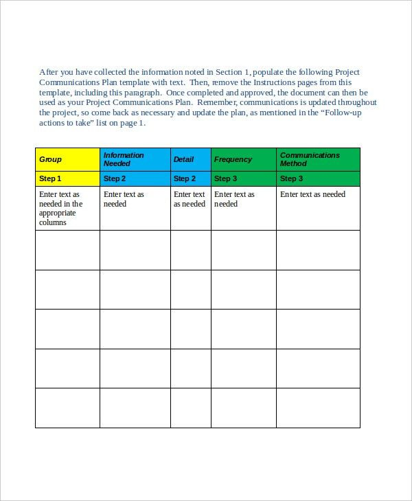 Project Plan Template - 10+ Free Word, PDF Document Downloads ...