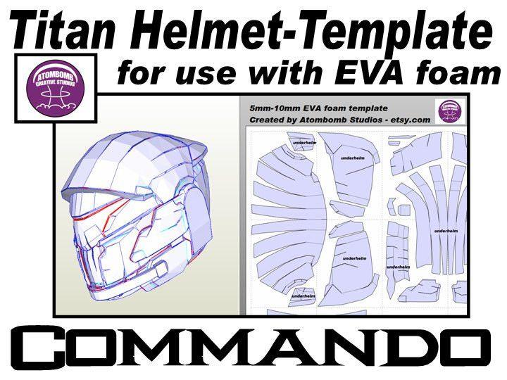 Helmet Titan. Commando Template for EVA foam helmet .pdf file