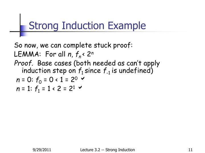 PPT - Lecture 3.2: Strong Induction PowerPoint Presentation - ID ...