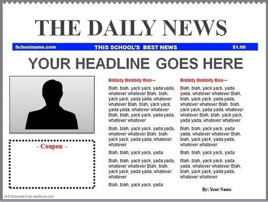 Google Docs Newspaper Template Free | Best Template Examples