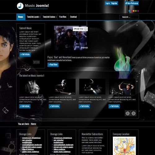 Free Music Joomla Joomla Template by AT JOOMLA