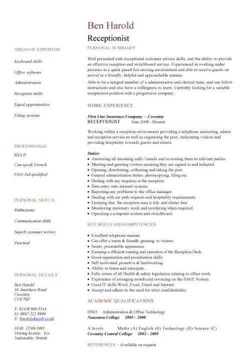 25 Cover Letter Template For Medical Receptionist Sample Resume ...