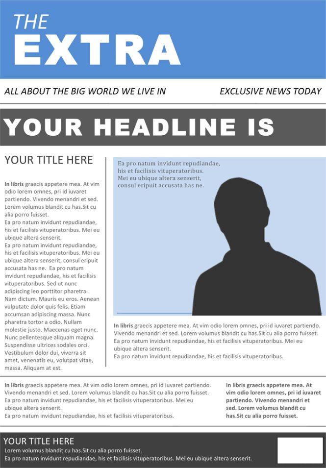 Newspaper Template – Get Calendar Templates