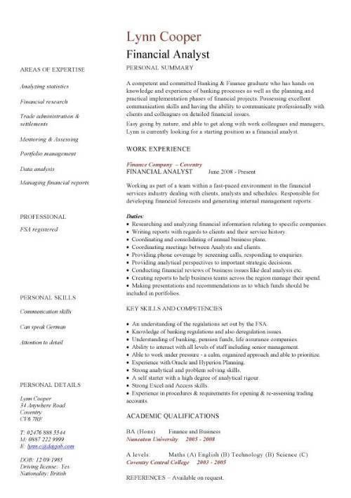 Cv template uk work experience