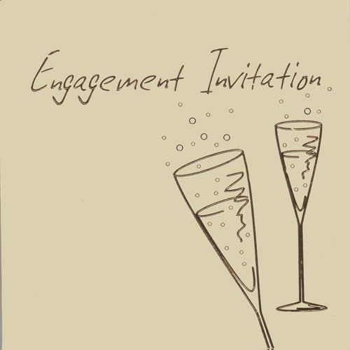 Engagement Party Invitation Cards in packs of 6 | Party Wizard