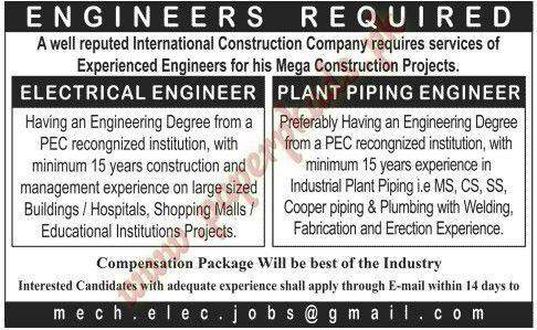 Piping Engineer Jobs Sanjary Education Academy Provides Various - Piping designer cover letter