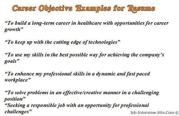 Best 20+ Good resume objectives ideas on Pinterest | Resume career ...