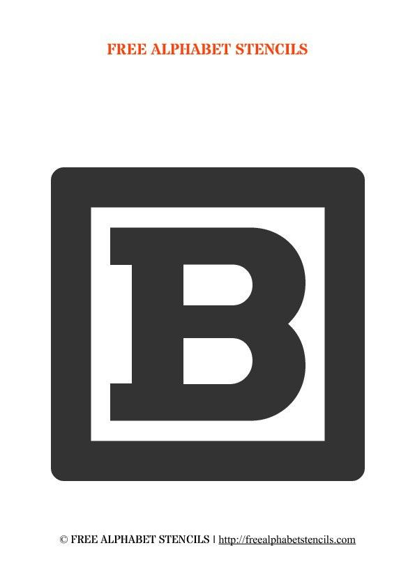 Block Letter Alphabet Stencils | FreeAlphabetStencils.com