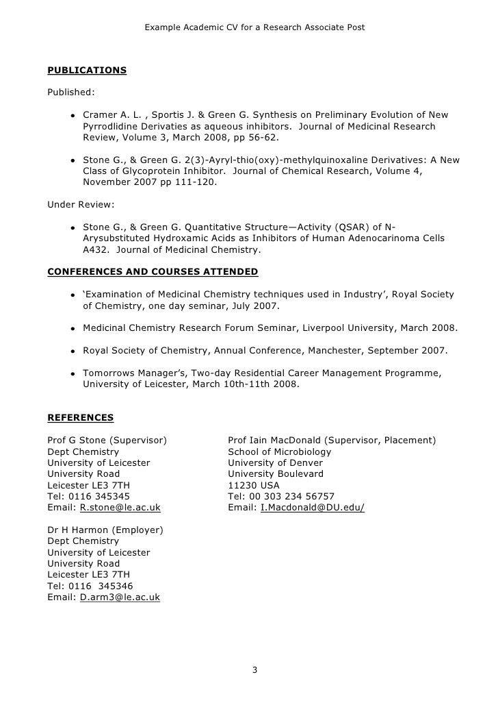 example of academic resume academic cv example teacher professor