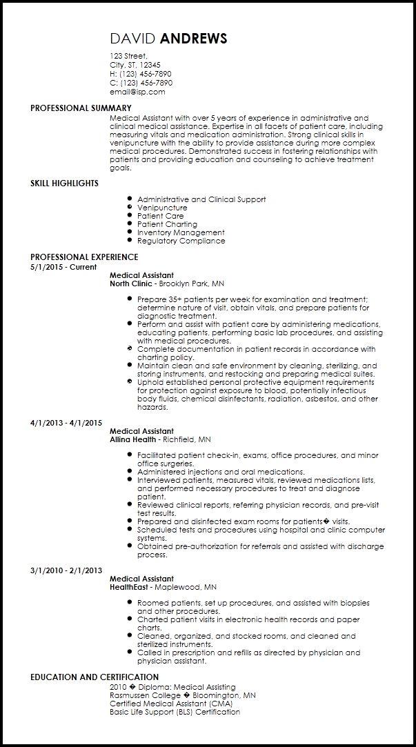 Free Creative Medical Resume Templates   ResumeNow