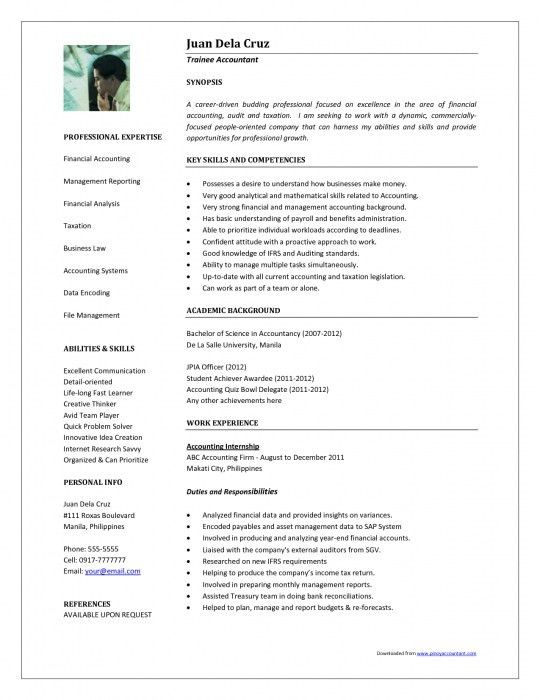 The Stylish Sample Of Resume For Accounting Position | Resume ...