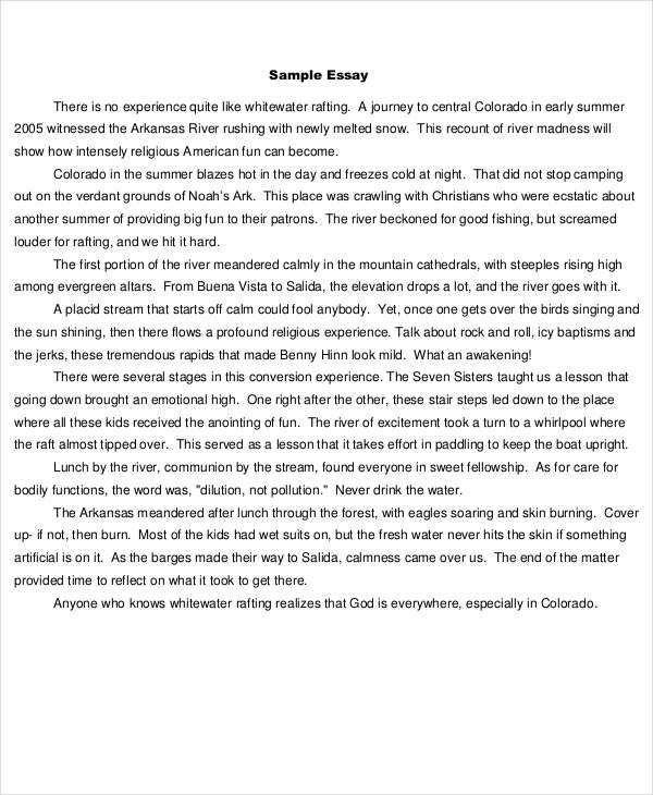 7+ Short Essay Examples, Samples