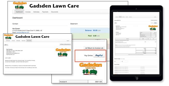 Lawn Care Software for Mac, Pc, iPad, iPhone and Android.