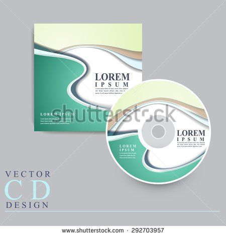 Vector Cd Cover Design Template Copy Stock Vector 87815164 ...