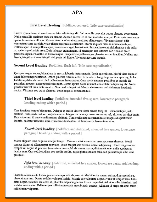 5+ apa heading examples | coaching-resume