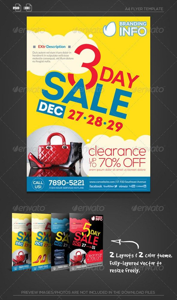 Big Sale - Flyer Template by katzeline | GraphicRiver