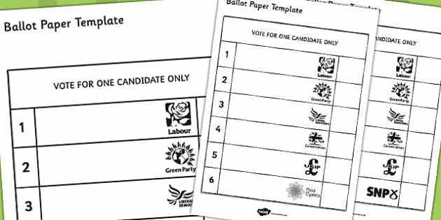 Ballot Paper Template - ballot, paper, template, role-play, play