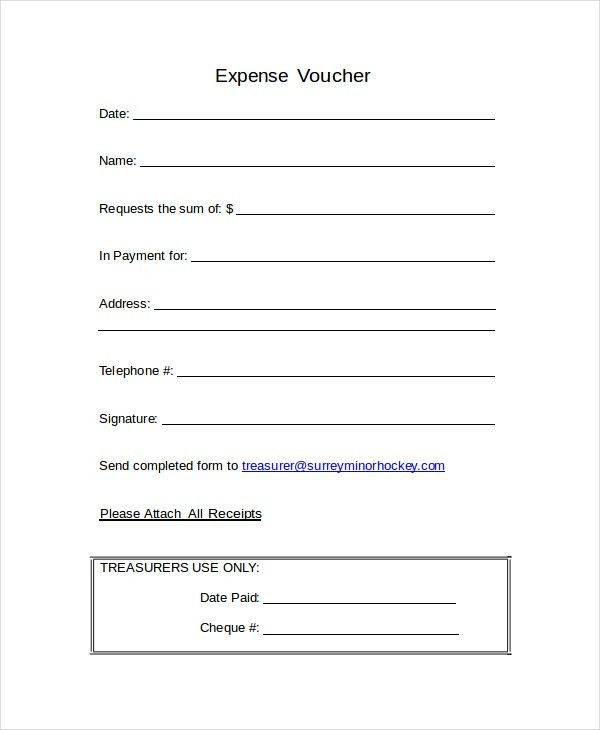 12+ Voucher Templates - Free Sample, Example, Format | Free ...