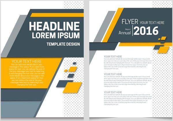 Annual report flyer template with lozenge arrangement design Free ...