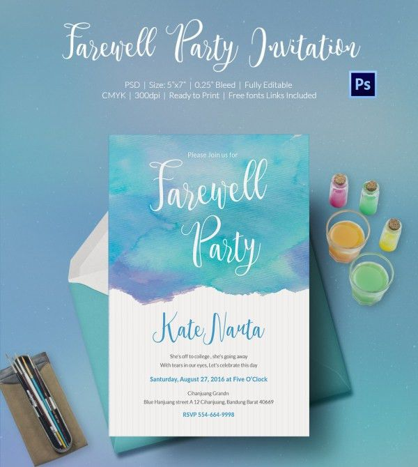 Going Away Party Invitation Template - marialonghi.Com