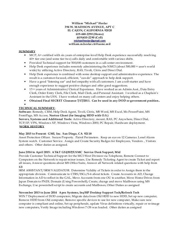 Helpdesk-Desktop Resume 4-17-15