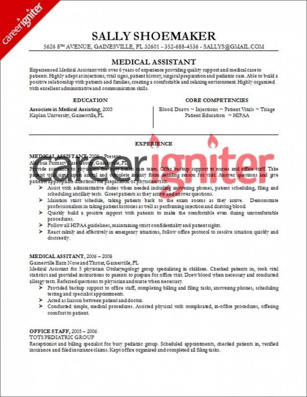 Medical Assistant Resume Samples No Experience – Template Design
