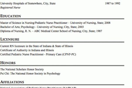 100+ [ Pediatric Nurse Resume ] | Sample Resume For Pediatric ...