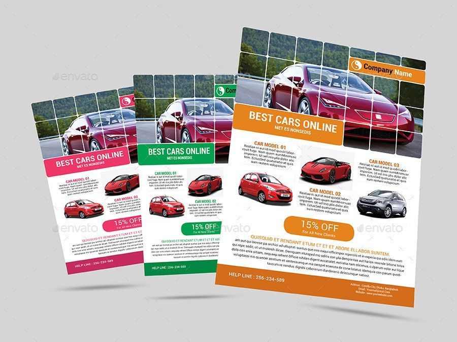 Automotive Car Sale Rental Flyer Ad Template by Al-Mamun ...