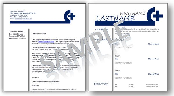 Nursing Resume Templates: Plus an eBook Job Guide for Nurses