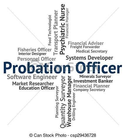 Clip Art of Probation Officer Shows Position Administrators And ...