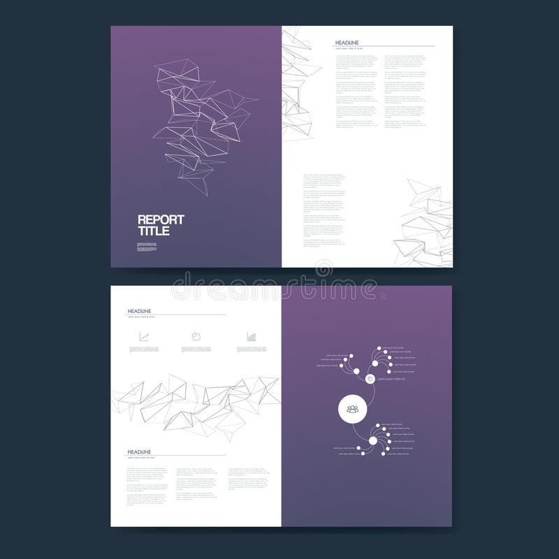 Business Annual Report Template Infographics Data Analysis Layout ...
