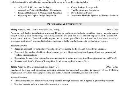 Credit Analyst Resume - Reentrycorps