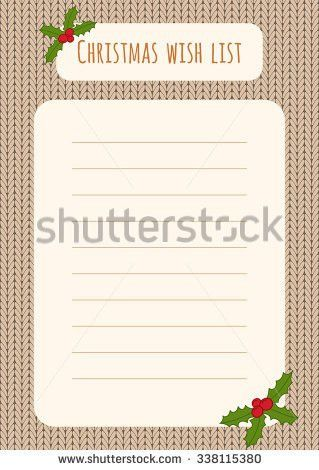 Christmas Wish List Stock Images, Royalty-Free Images & Vectors ...